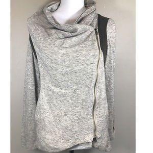 Asymmetrical zip up cardigan